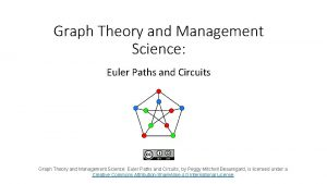 Graph Theory and Management Science Euler Paths and