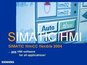 Automation and Drives SIMATIC HMI Human Machine Interface