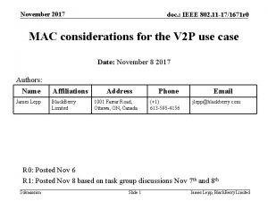 November 2017 doc IEEE 802 11 171671 r