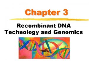 Chapter 3 Recombinant DNA Technology and Genomics Agarose