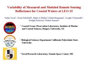 Variability of Measured and Modeled Remote Sensing Reflectance
