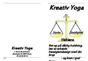 Kreativ Yoga Styrke Smidighed Velvre Kreativ Yoga v