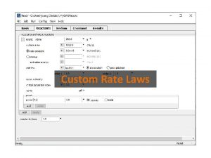 Custom Rate Laws Set Kinetic Rate Laws from