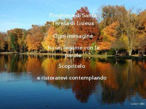 Preghiera di Santa Teresa di Lisieux Ogni immagine