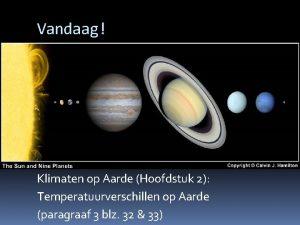 Vandaag Klimaten op Aarde Hoofdstuk 2 Temperatuurverschillen op