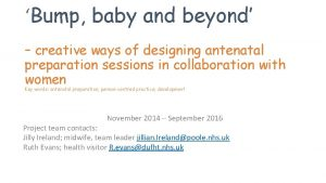 Bump baby and beyond creative ways of designing