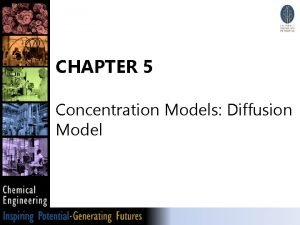 CHAPTER 5 Concentration Models Diffusion Model Diffusion model
