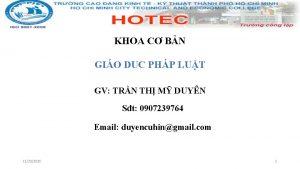 KHOA C BN GIO DUC PHP LUT GV