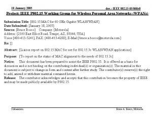 18 January 2005 doc IEEE 802 15 05068