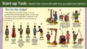 Startup Task Match the crime with the punishment
