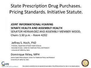 State Prescription Drug Purchases Pricing Standards Initiative Statute