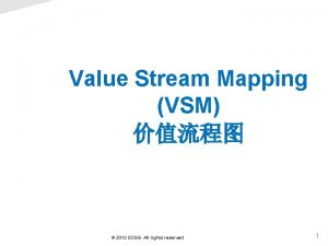 Value Stream Mapping VSM 2013 ZOGG All rights