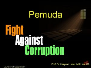 Pemuda Prof Dr Haryono Umar MSc Ak CA