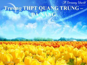 Trng THPT QUANG TRUNG NNG 11242020 KIM TRA