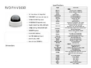 Specifications RVDIFHV 1630 Dimensions RVDIFHV 1630 13 Sony