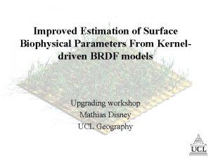 Improved Estimation of Surface Biophysical Parameters From Kerneldriven
