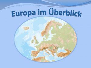 Was ist die Europische Union Sie ist europisch