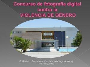 Concurso de fotografa digital contra la VIOLENCIA DE