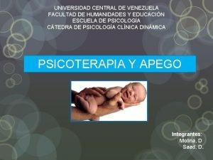 UNIVERSIDAD CENTRAL DE VENEZUELA FACULTAD DE HUMANIDADES Y