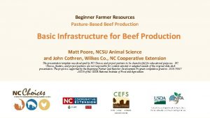 Beginner Farmer Resources PastureBased Beef Production Basic Infrastructure