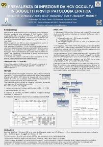 PREVALENZA DI INFEZIONE DA HCV OCCULTA IN SOGGETTI