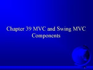 Chapter 39 MVC and Swing MVC Components 1