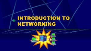 INTRODUCTION TO NETWORKING COMPUTER NETWORK Term network l