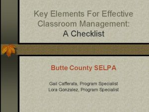 Key Elements For Effective Classroom Management A Checklist