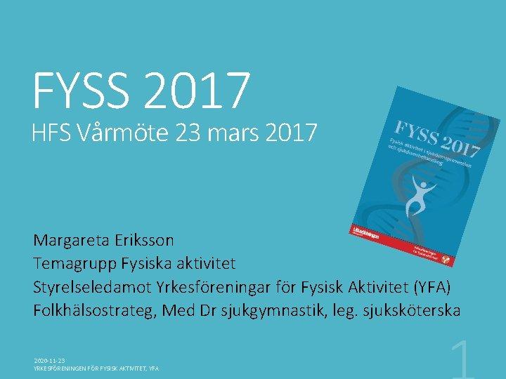 FYSS 2017 HFS Vrmte 23 mars 2017 Margareta