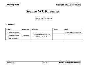 January 2018 doc IEEE 802 11 180064 r