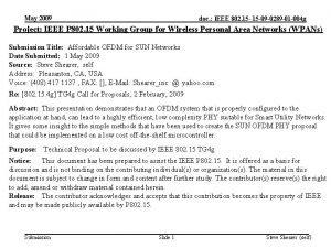 May 2009 doc IEEE 802 15 09 0289