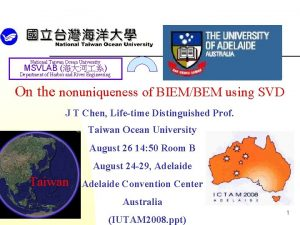 National Taiwan Ocean University MSVLAB Department of Harbor