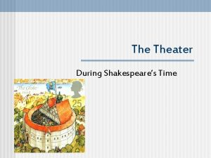 The Theater During Shakespeares Time Elizabethan Theater n