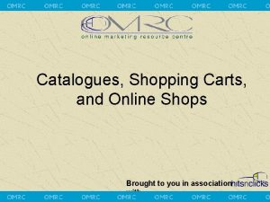 Catalogues Shopping Carts and Online Shops Brought to