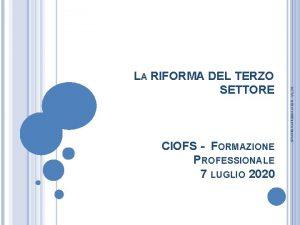 CIOFS FORMAZIONE PROFESSIONALE 7 LUGLIO 2020 ACTA tutti