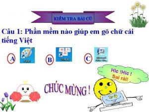 KIM TRA BI C Cu 1 Phn mm