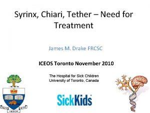 Syrinx Chiari Tether Need for Treatment James M