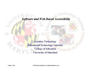 Software and WebBased Accessibility Assistive Technology Educational Technology