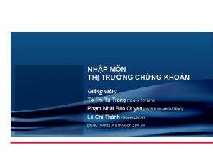 NHP MN TH TRNG CHNG KHON Ging vin