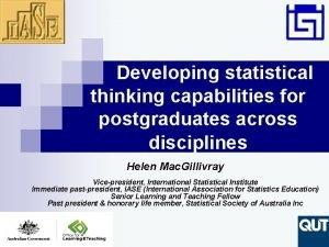 Developing statistical thinking capabilities for postgraduates across disciplines