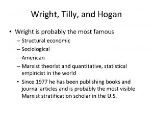 Wright Tilly and Hogan Wright is probably the