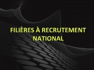 FILIRES RECRUTEMENT NATIONAL HYDRAULIQUE SPCIFICITS Dispenser des modules