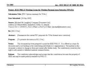 Oct 2005 doc IEEE 802 15 0600 004