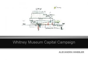 Whitney Museum Capital Campaign ALEXANDRA WHEELER Whitney Museum