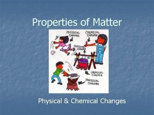 Properties of Matter Physical Chemical Changes Physical Properties