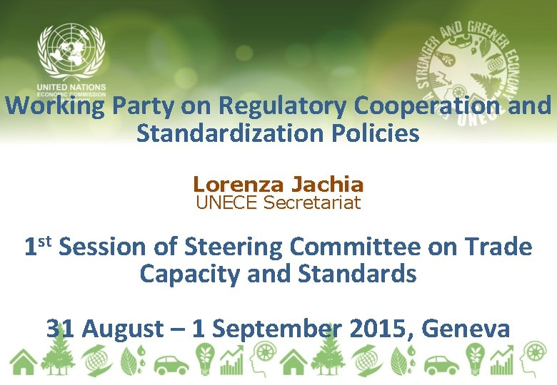 Working Party on Regulatory Cooperation and Standardization Policies