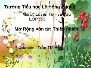 Trng Tiu hc L Hng Phong Mn Luyn