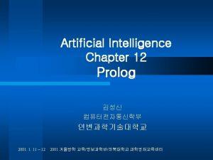 Prolog l Prolog SWIProlog l SWIProlog site http