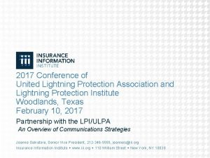 2017 Conference of United Lightning Protection Association and
