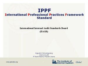 IPPF International Professional Practices Framework Standard International Internal